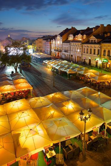 Market Square at Dusk, Old Town, Rzeszow, Poland, Europe-Frank Fell-Photographic Print