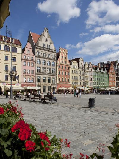 Market Square from Cafe, Old Town, Wroclaw, Silesia, Poland, Europe-Frank Fell-Photographic Print
