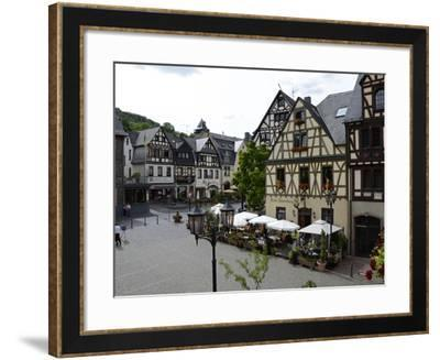 Market Square, Oberwesel, Rhine Valley, Rhineland-Palatinate, Germany, Europe-Hans Peter Merten-Framed Photographic Print