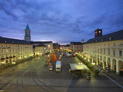 Market Square with Pyramide, Karlsruhe, Baden-Wurttemberg, Germany, Europe-Hans Peter Merten-Photographic Print