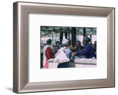 Market stall in Samarkand. Artist: CM Dixon Artist: Unknown-CM Dixon-Framed Photographic Print