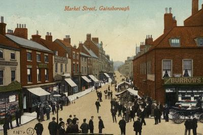 Market Street, Gainsborough--Photographic Print