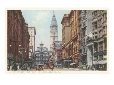 Market Street, Philadelphia, Pennsylvania--Art Print
