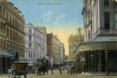Market Street, Sydney, New South Wales, Australia, C1900-C1919--Giclee Print