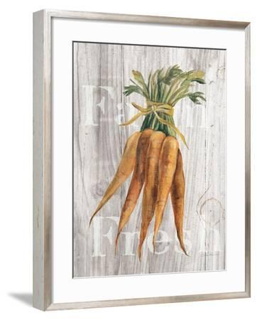 Market Vegetables I on Wood-Silvia Vassileva-Framed Art Print