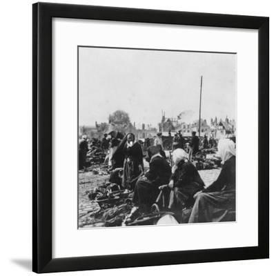 Market Women, Arras, France, World War I, C1914-C1918- Nightingale & Co-Framed Giclee Print