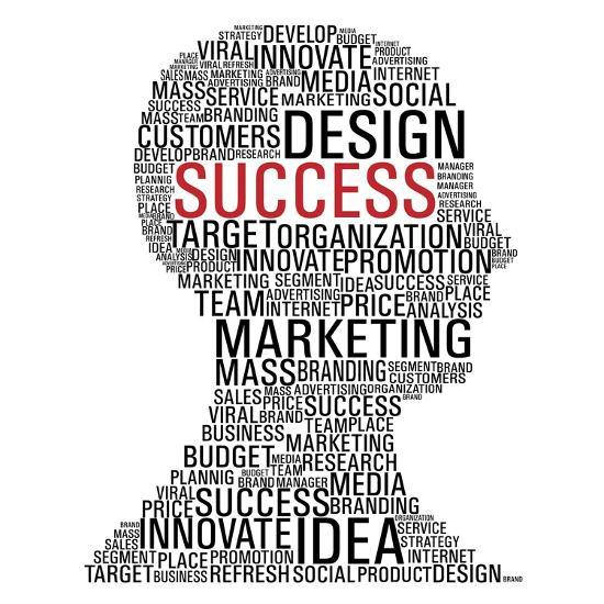 Marketing Success Head Communication-cienpies-Art Print