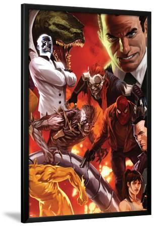 The Amazing Spider-Man No.644 Cover: Norman Osborn, Lizard, Menace, and Mister Negative Posing