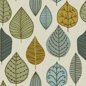 A Seamless Pattern with Leaf,Autumn Leaf Background by Markovka