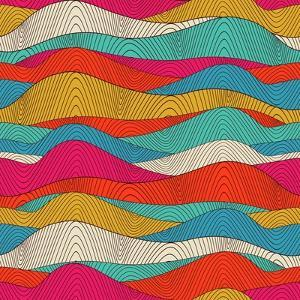 Abstract Colorful Wave Pattern by Markovka
