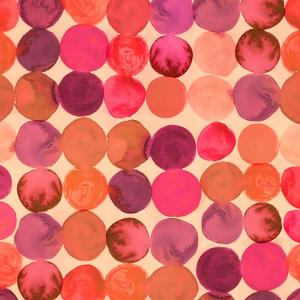 Abstract Watercolored Geometric Circles Seamless Background by Markovka