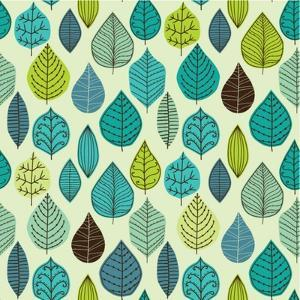 Seamless Pattern on Leaves Theme, Autumn Seamless Pattern with Leaf by Markovka