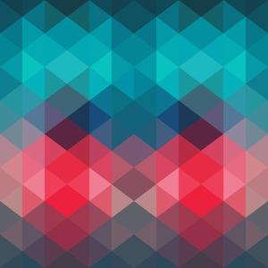 Spectrum Geometric Background Made of Triangles. Retro Hipster Color Spectrum Grunge Background. Sq by Markovka