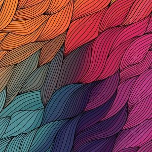 Vector Abstract Hand-Drawn Waves Texture, Wavy Background. Colorful Waves Backdrop. by Markovka