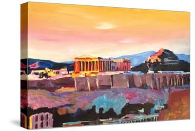 Athens Greece Acropolis At Sunset