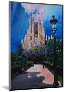 Barcelona Sagrada Familia with Park and Lantern by Markus Bleichner