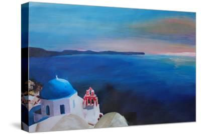 Beautiful Santorini Sunset in Oia Greece