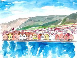 Bergen Norway by Markus Bleichner