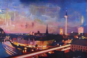 Berlin Skyline at Dusk by Markus Bleichner