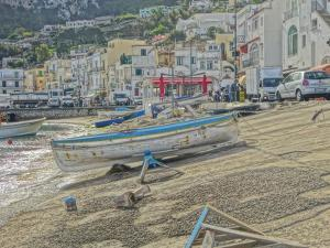 Boats in Capri Harbour Italy by Markus Bleichner