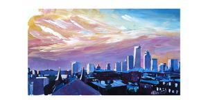 Boston Massachusetts Skyline At Sunrise by Markus Bleichner
