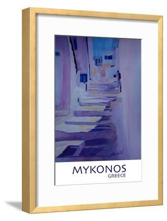 Enchanting Mykonos Greece View with Stairs Retro