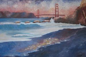 Golden Gate Bridge during Sunset by Markus Bleichner