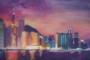 Hong Kong Skyline at Night by Markus Bleichner