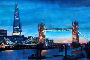 London Tower Bridge and The Shard at Dusk by Markus Bleichner