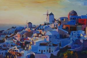 Morning Glory Oia in Santorini Greece by Markus Bleichner