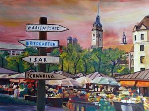 Munich Bavaria Viktualienmarkt with Signposts by Markus Bleichner