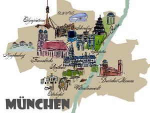 Munich Map Overview Best Of Highlights by Markus Bleichner