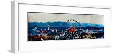 Munich Oktoberfest Panorama with Alps and Giant Wheel