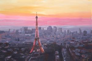 Paris Eiffel Tower at Dusk by Markus Bleichner