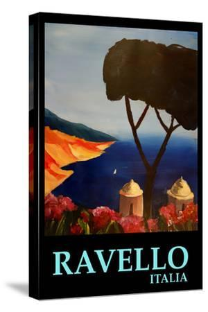Ravello Salerno Italy View of Amalfi Coast Retro