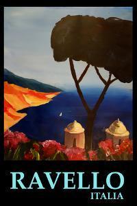 Ravello Salerno Italy View of Amalfi Coast Retro by Markus Bleichner