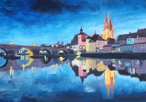 Regensburg, Bavaria, at Dawn by Markus Bleichner