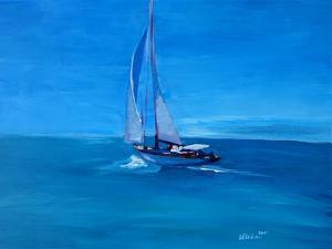 Sailing Into The Blue by Markus Bleichner