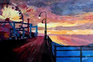 Santa Monica Pier At Dawn by Markus Bleichner