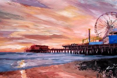 Santa Monica Pier at Sunset by Markus Bleichner
