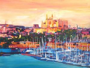 Spain Balearic Islands Majorca Cathedral w Harbour by Markus Bleichner