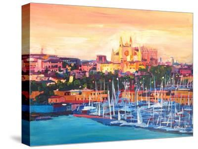 Spain Balearic Islands Majorca Cathedral w Harbour
