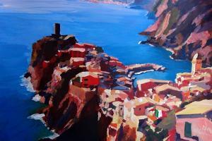 Spectacular Cinque Terre View to Vernazza, Ligure by Markus Bleichner