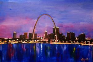 St Louis Gateway Arch at Sunset by Markus Bleichner