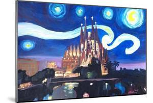 Starry Night Barcelona - Van Gogh Sagrada Familia by Markus Bleichner