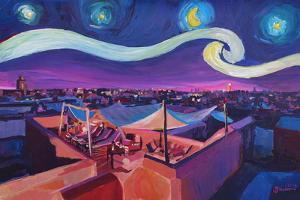 Starry Night in Marrakech Van Gogh Inspirations by Markus Bleichner