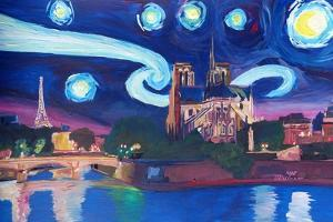 Starry Night in Paris - Van Gogh Skyline by Markus Bleichner
