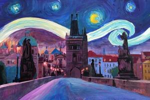 Starry Night in Prague Van Gogh Inspirations by Markus Bleichner