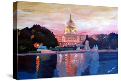 United States Capitol in Washington DC at Sunset