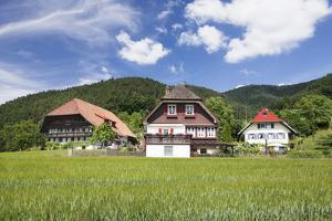 Black Forest Houses, Gutachtal Valley, Black Forest, Baden Wurttemberg, Germany, Europe by Markus Lange
